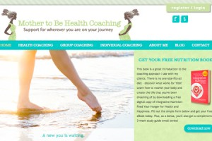 Custom Wordpress Web Design for Mother to be Health Coaching