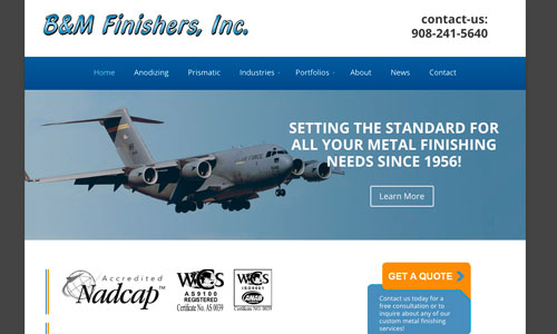 Wordpress Web Design For B&M Finishers