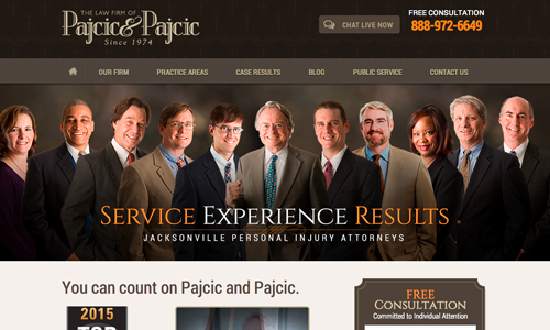 Law Firm Web Development For Pajcic & Pajcic