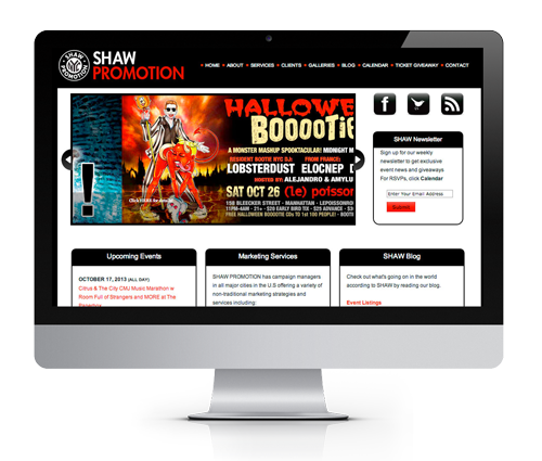 NJ Web Design Agency Redesigns Shaw Promotion