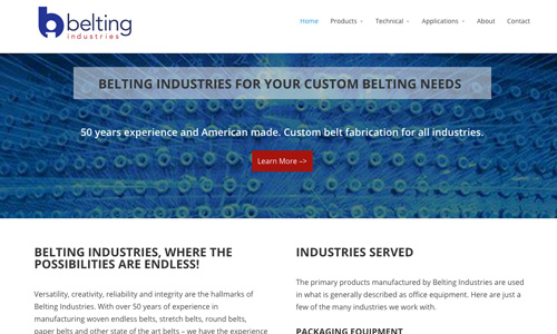 Belting Industries WordPress Design & Development