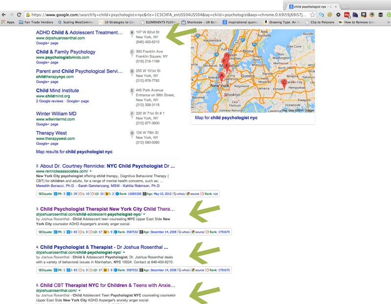 SEO Results For A NYC Psychologist