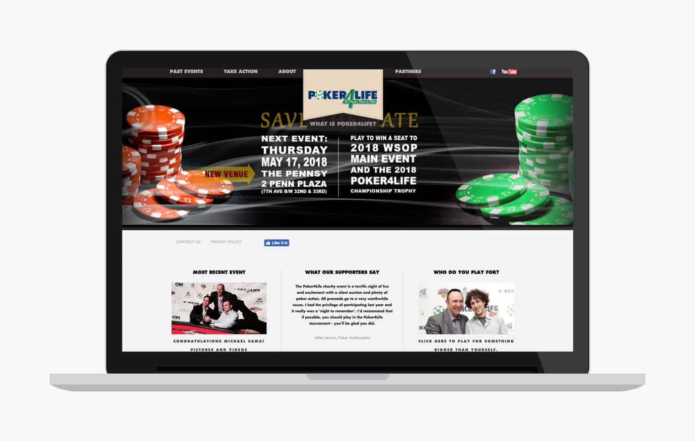 Wordpress Development for Poker4Life Charity