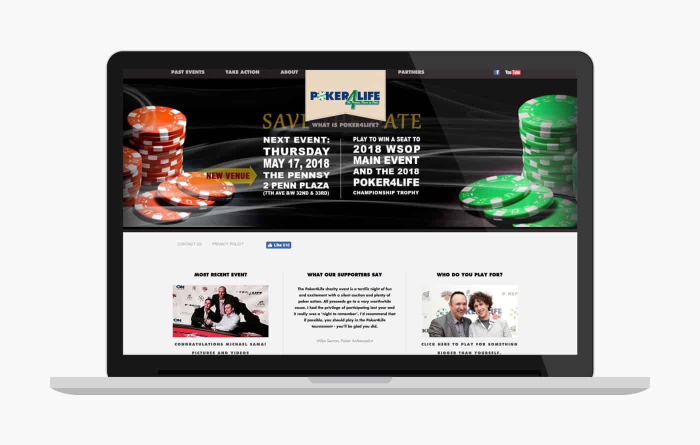 Wordpress Development for Poker4Life Charity