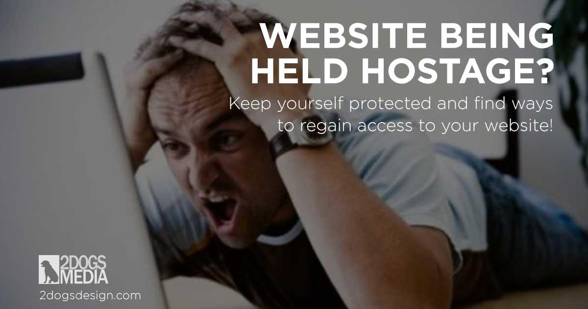 website being held hostage