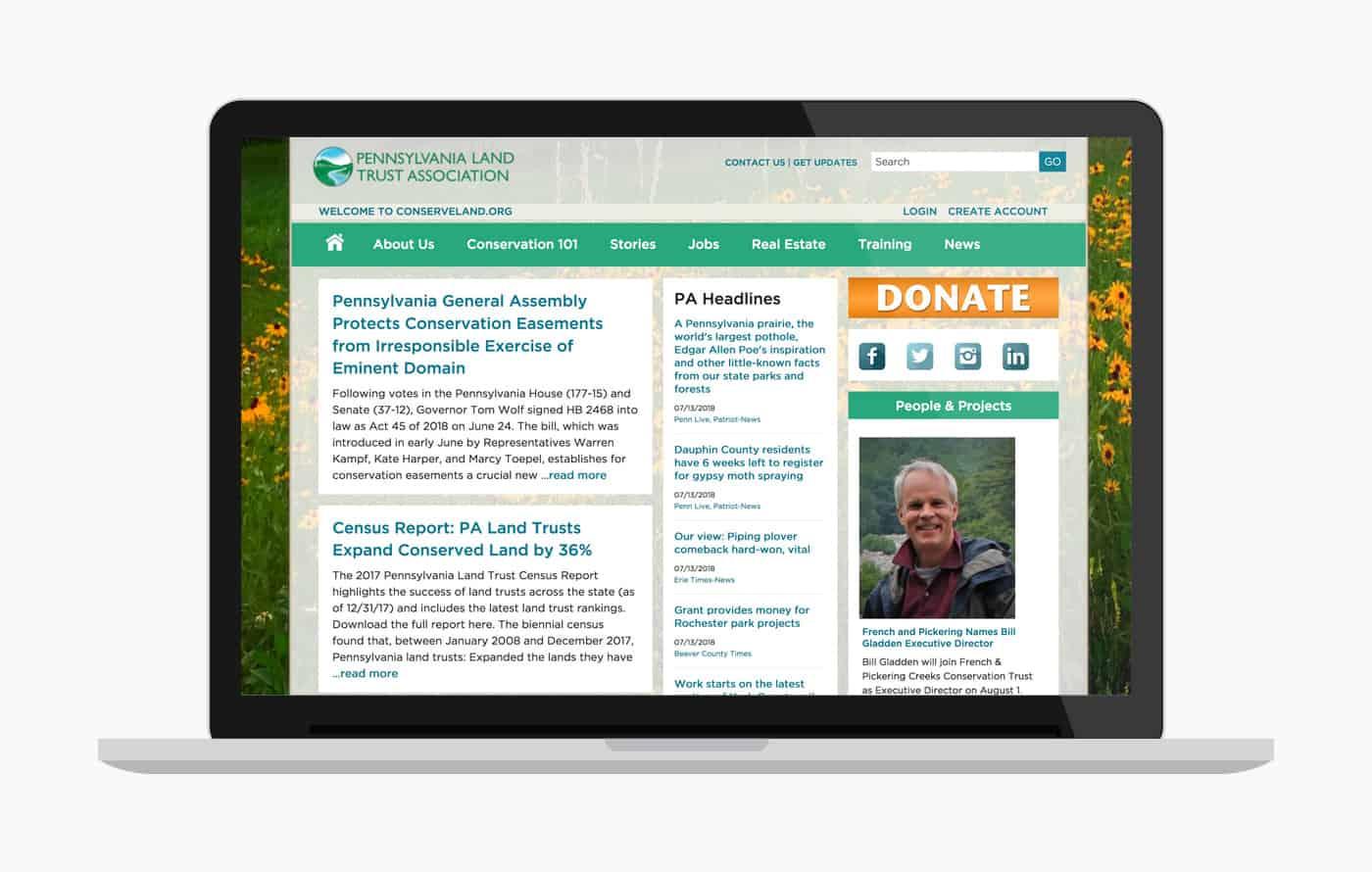 Nonprofit Website Design in Wordpress - PALTA