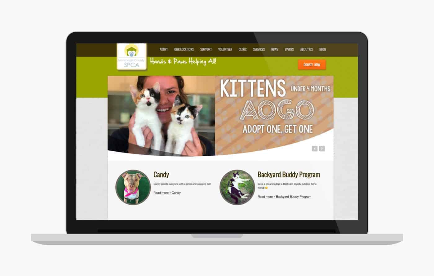 Animal Shelter Website Design - MCSPCA