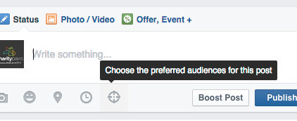 Facebook Post Targeting Icon