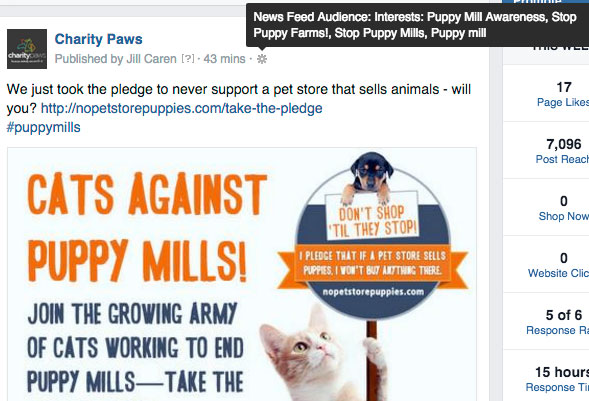 Puppy Mill Targeting on FB