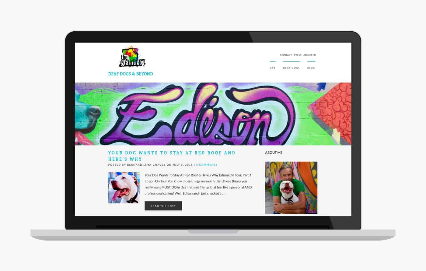 Wordpress Blog Design - Graffiti Dog