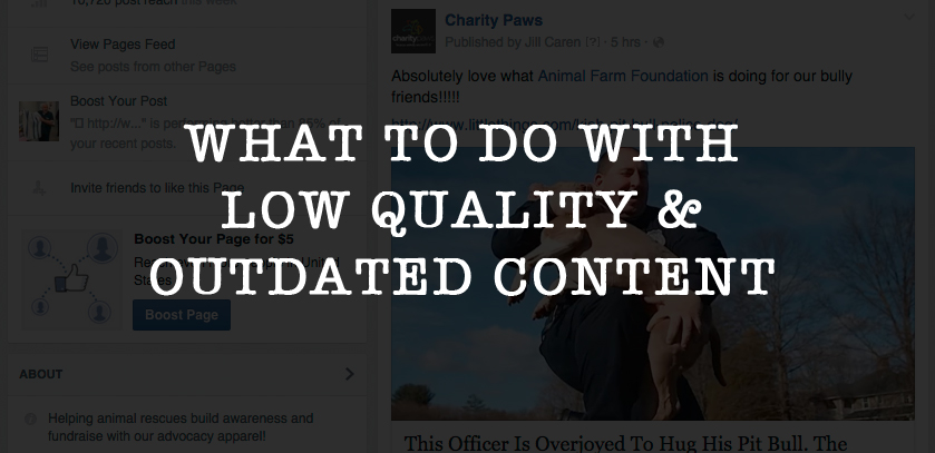 What To Do With Low Quality & Outdated Website Content
