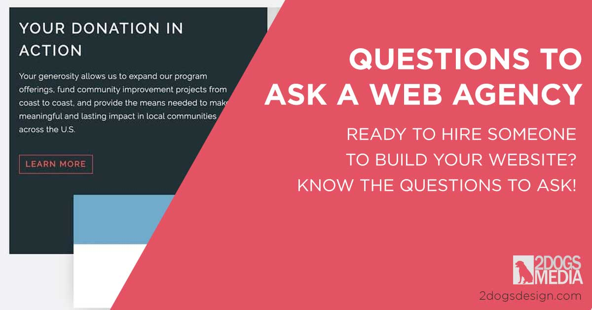 Questions to ask a web designer or agency