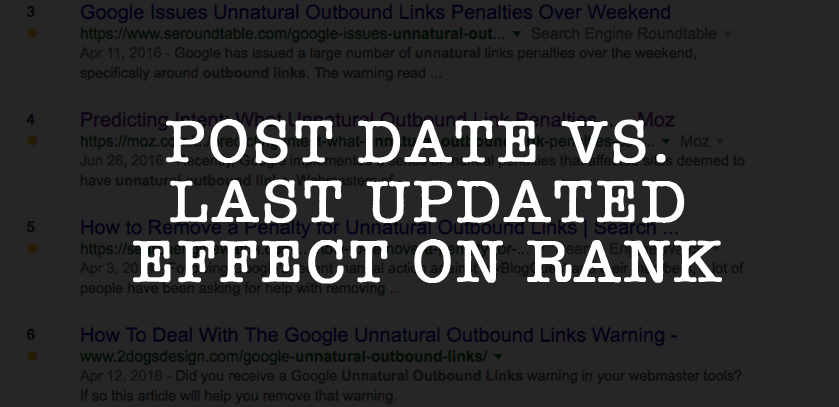 Post Date versus Last Updated Date For Rank Position - 2