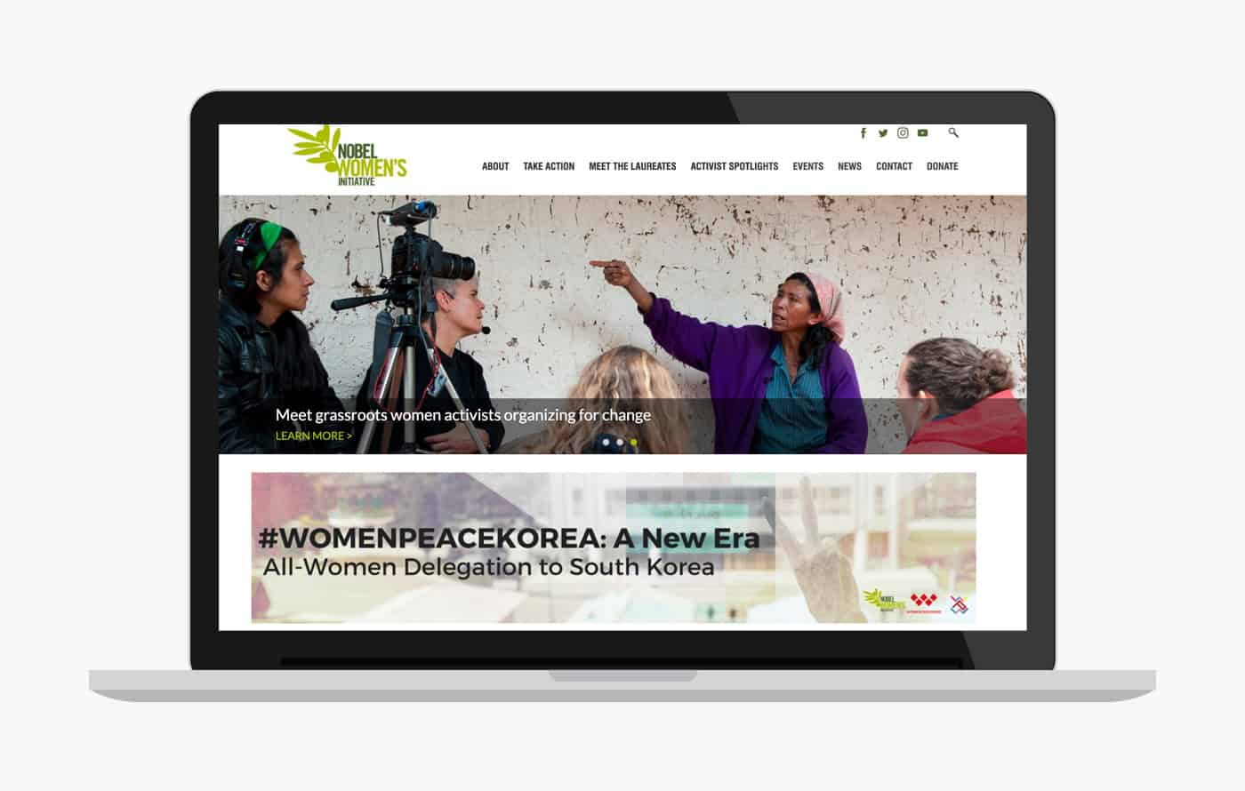 Nonprofit Web design & Development - Nobel Women's Initiative