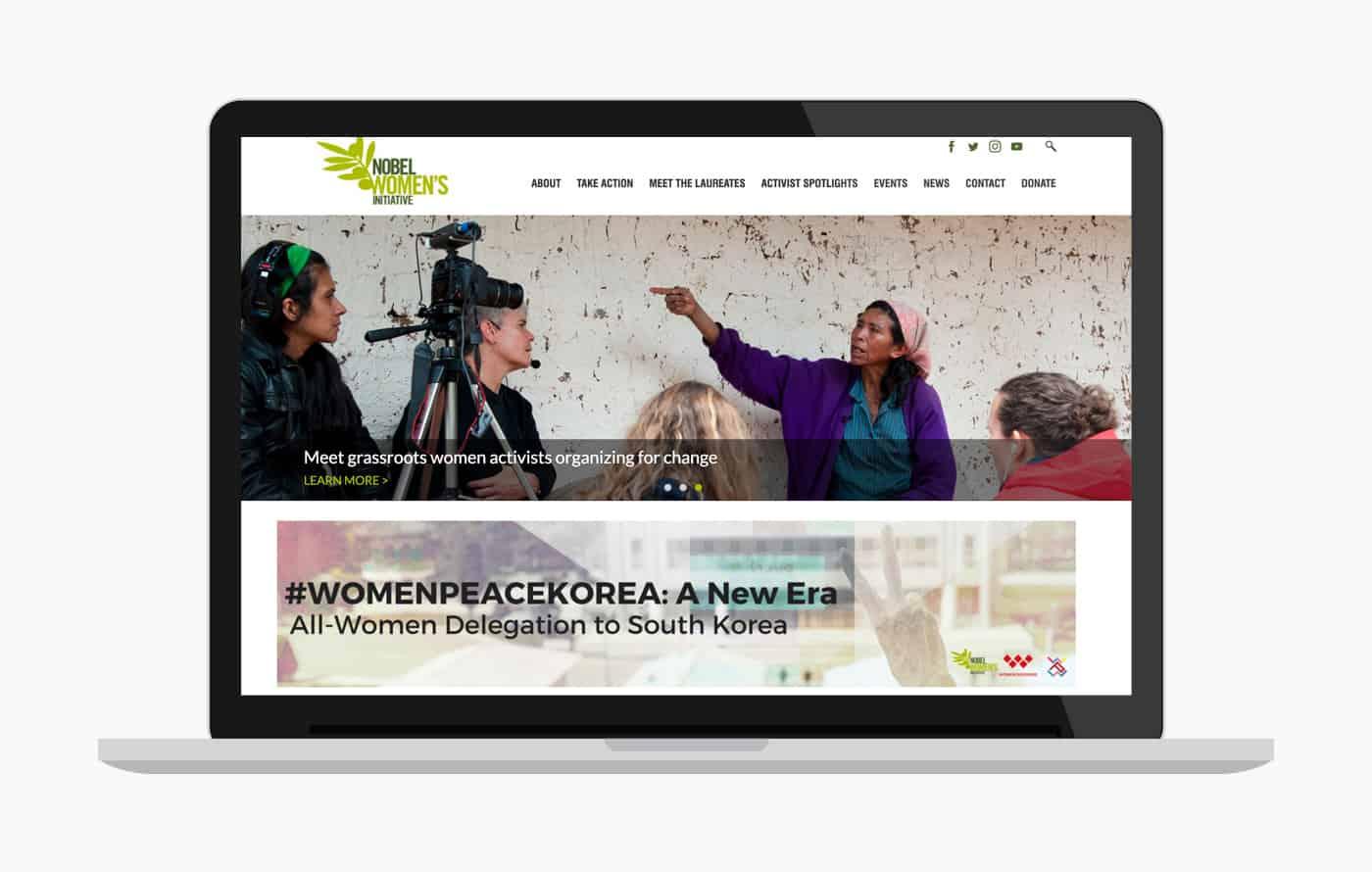 Nonprofit Web design & Development - Nobel Women's Initiative