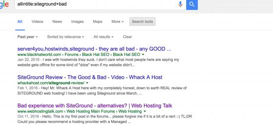 Siteground Bad Listings
