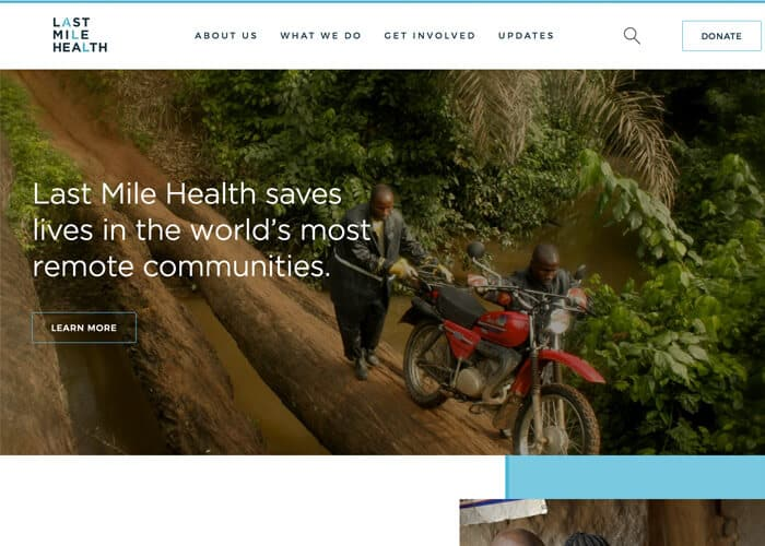 Best Nonprofit Website Design - Last Mile Health
