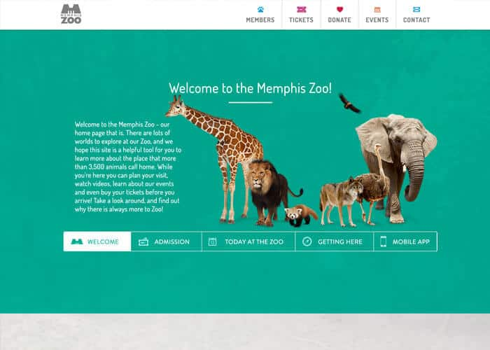 Memphis Zoo Best Nonprofit Website