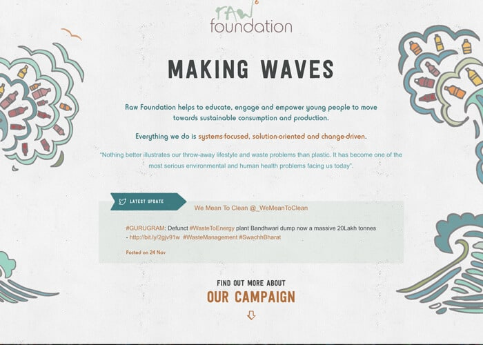 Raw Foundation - Best In Nonprofit Website Design