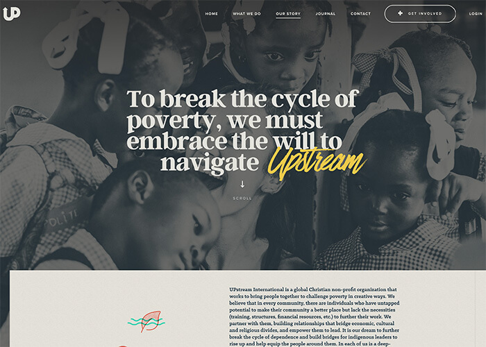 Upstream Best Nonprofit Website Design