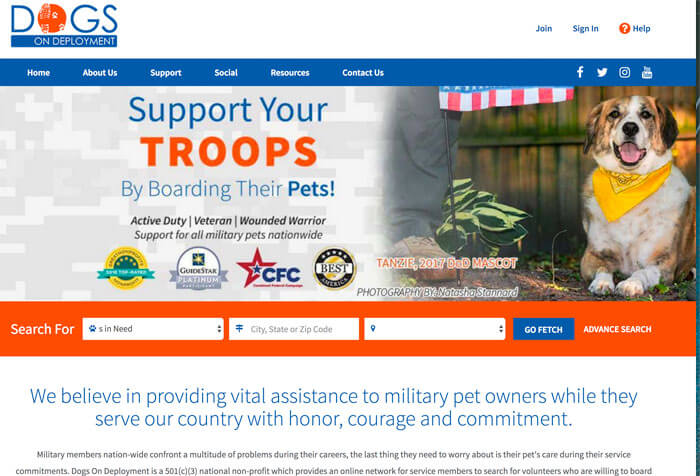 Dogs On Deployment Nonprofit Website Design