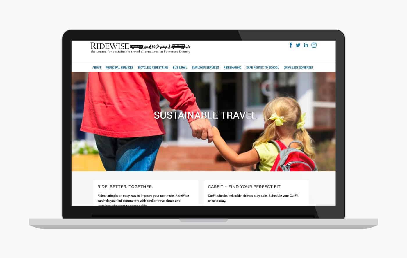 Ridewise - Nonprofit Web Development