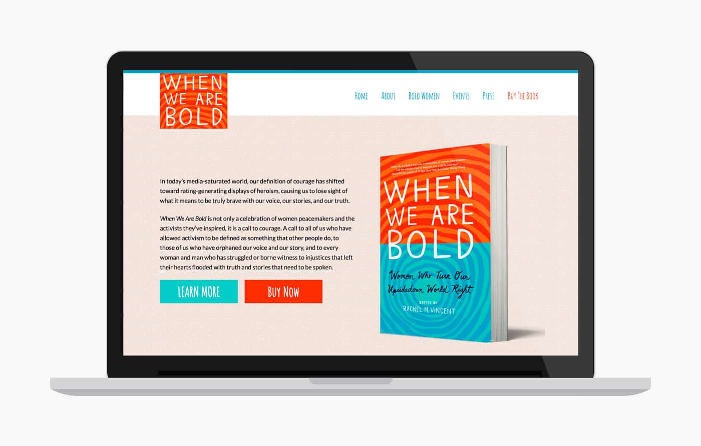 Book Website Design - When We Are Bold