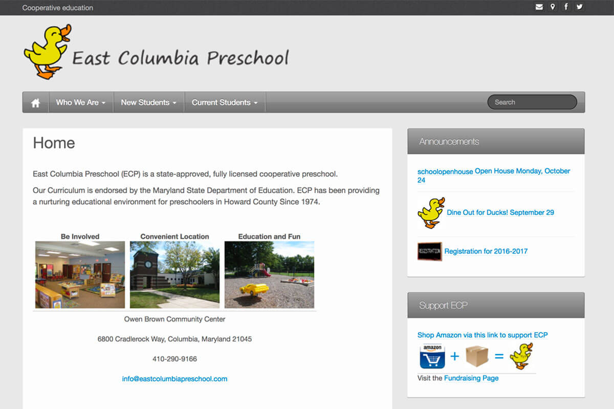 Wordpress Web Design East Columbia Preschool