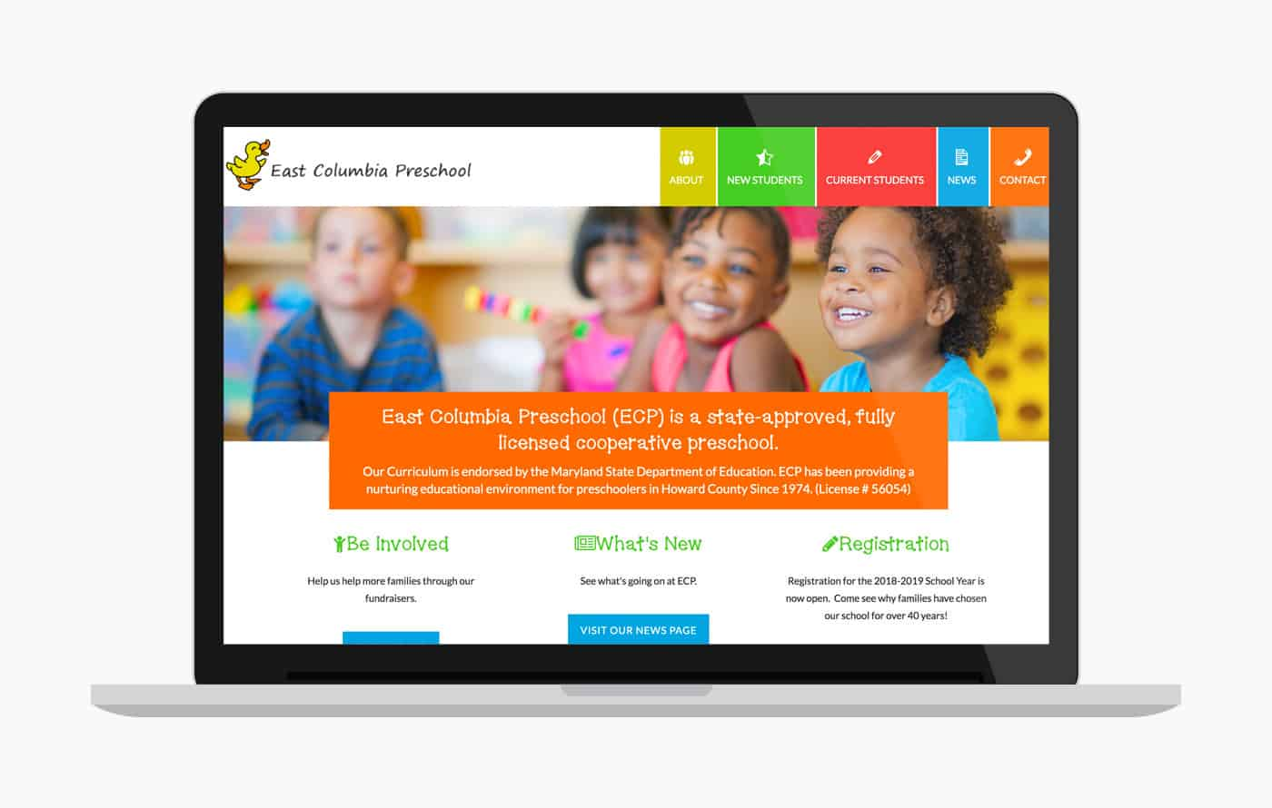 Wordpress Website Design for Preschool