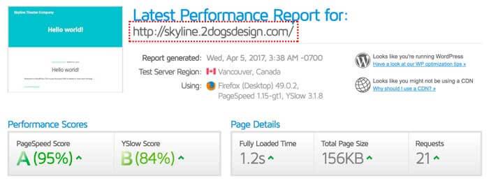 Speed Performance Test