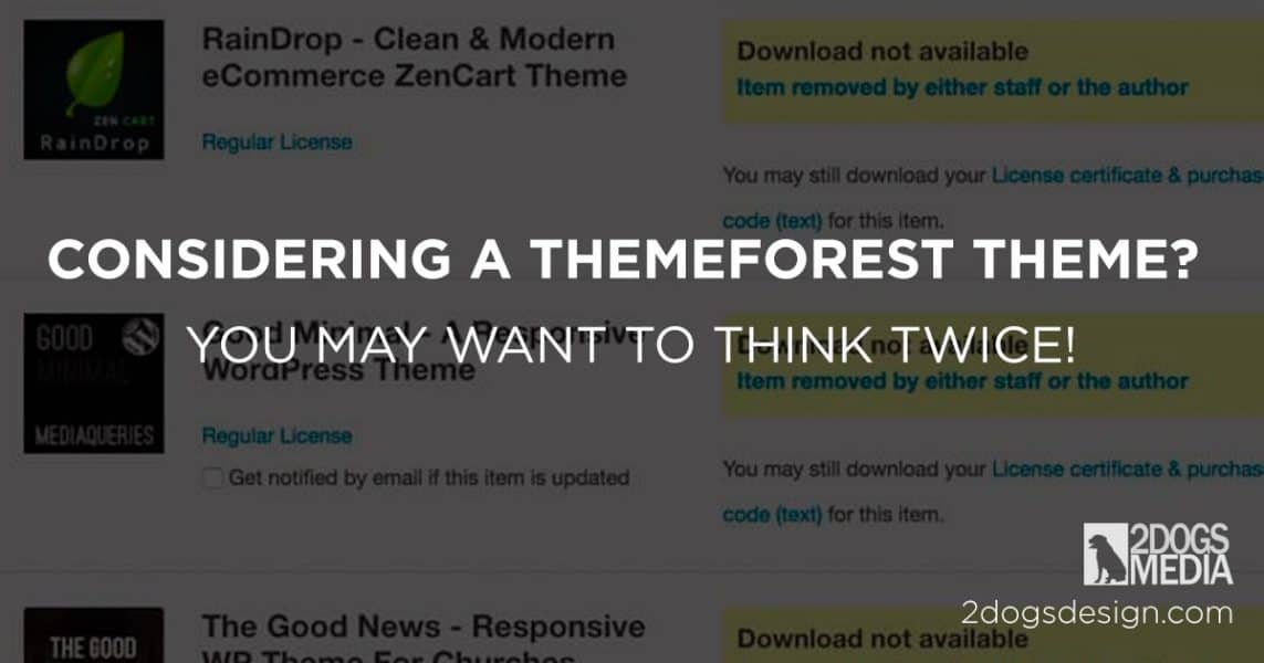 ThemeForest Review: Why We Would Not Recommend Them