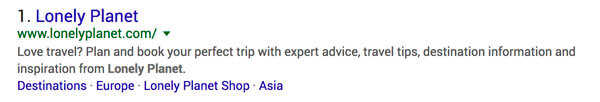 Good Meta Description Example Lonely Planet