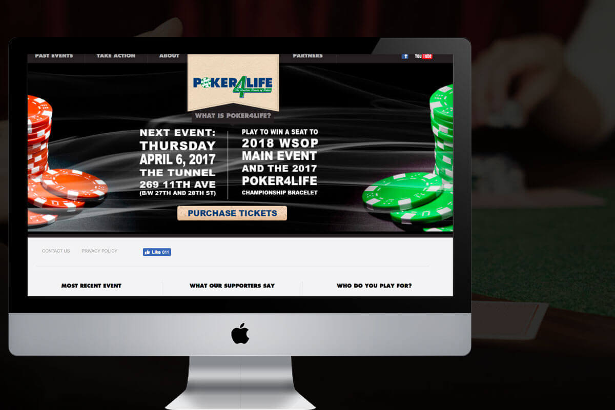 nonprofit website design for poker4life