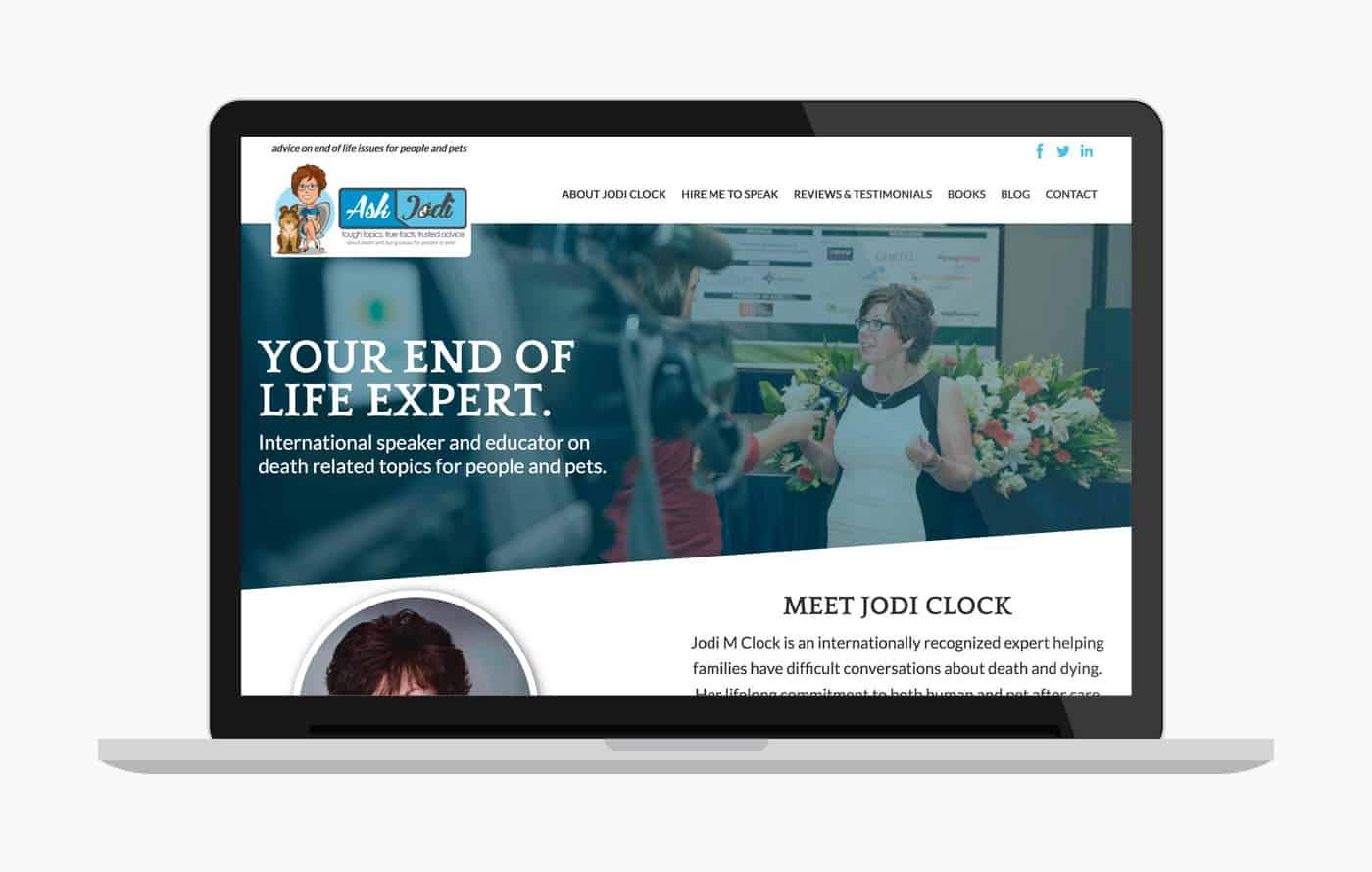 Speaker Website Design - Jodi Clock