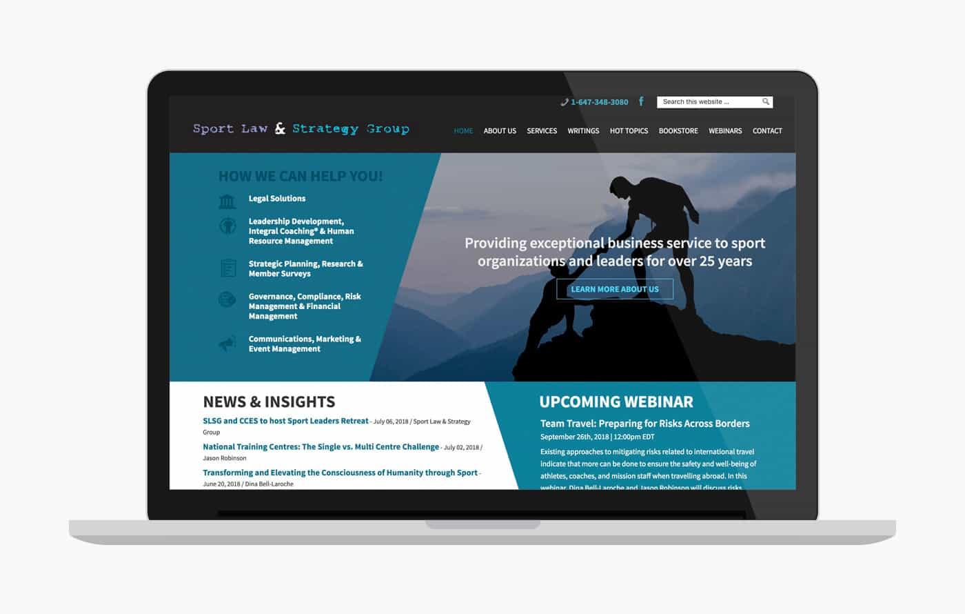 Legal Wordpress Website Design - Sportlaw