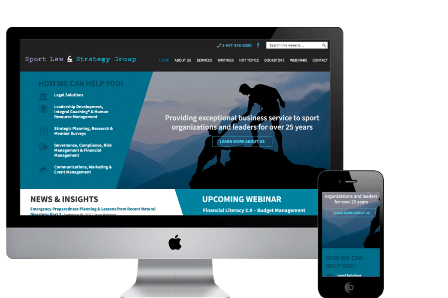 Sportlaw Website Redesign - WordPress Website Design & Development