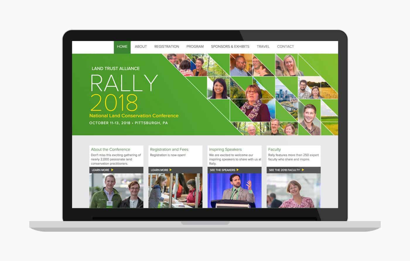 Conference Wordpress Website Design & Development - Rally