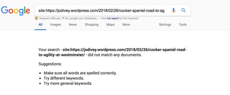 Content Scraper Post Not Indexed