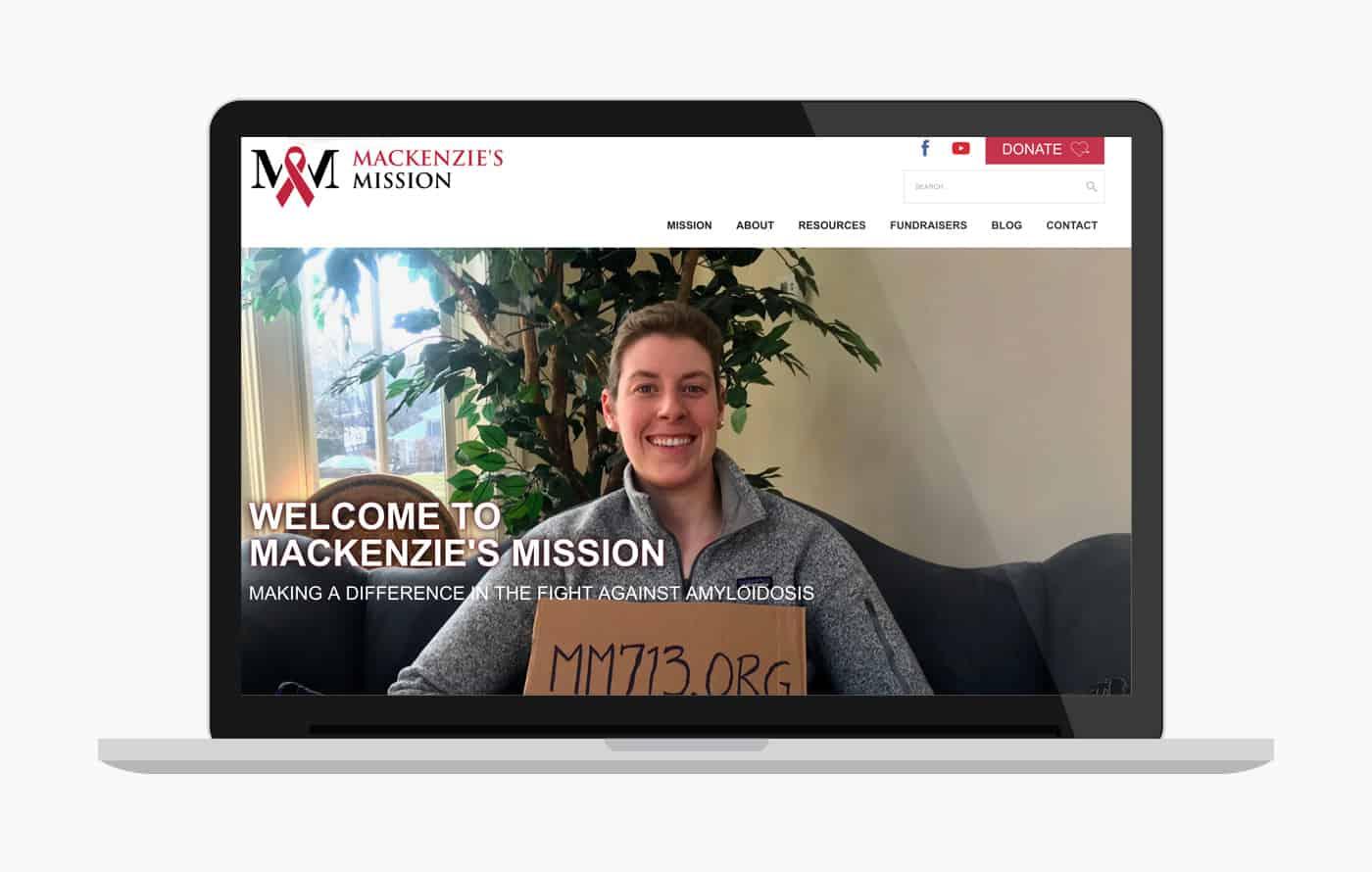 Mackenzie's Mission Nonprofit Web Design