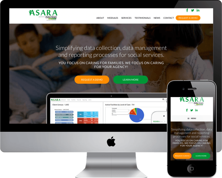 Wordpress Web Design for Asara