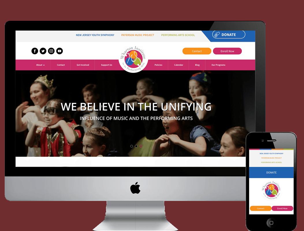 Wordpress Redesign for Wharton