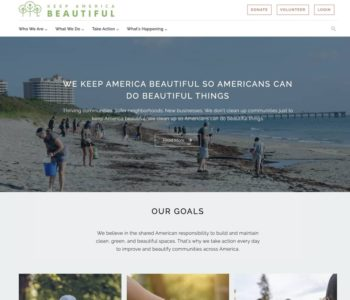 Keep America Beautiful Website Launch