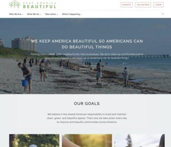 Keep America Beautiful Website Launch