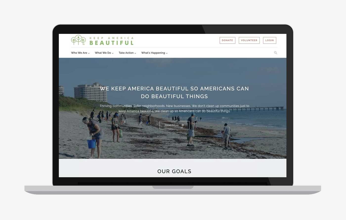 Keep America Beautiful website redevelopment
