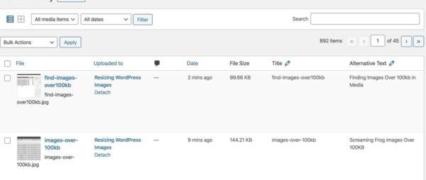 Add File Size Column Wordpress
