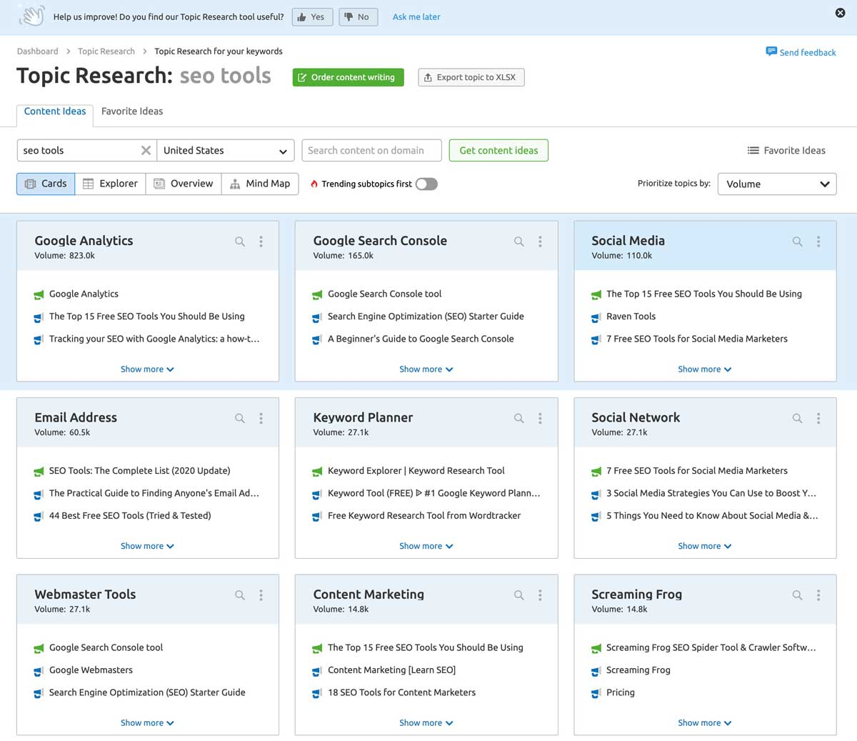topic research tool semrush