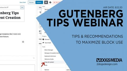 Gutenberg blocks tips and tricks