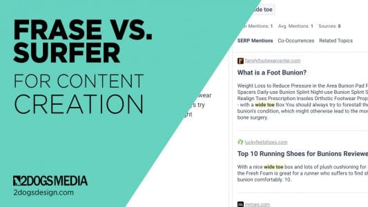 Frase versus Surfer for Content Creation